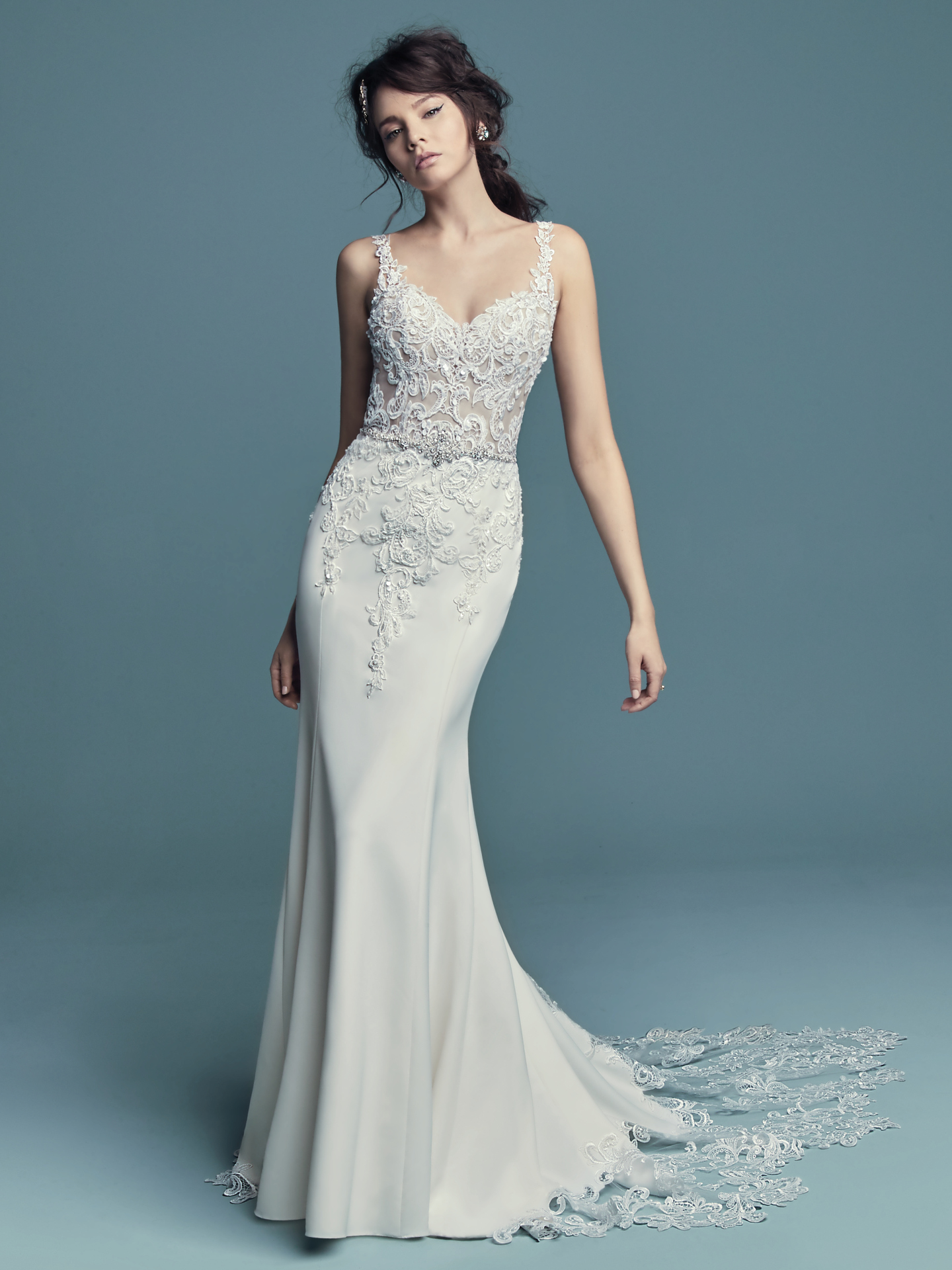 15 Gorgeous Statement-Back Gowns for the Stylish Bride - Alaina wedding dress with statement back by Maggie Sottero