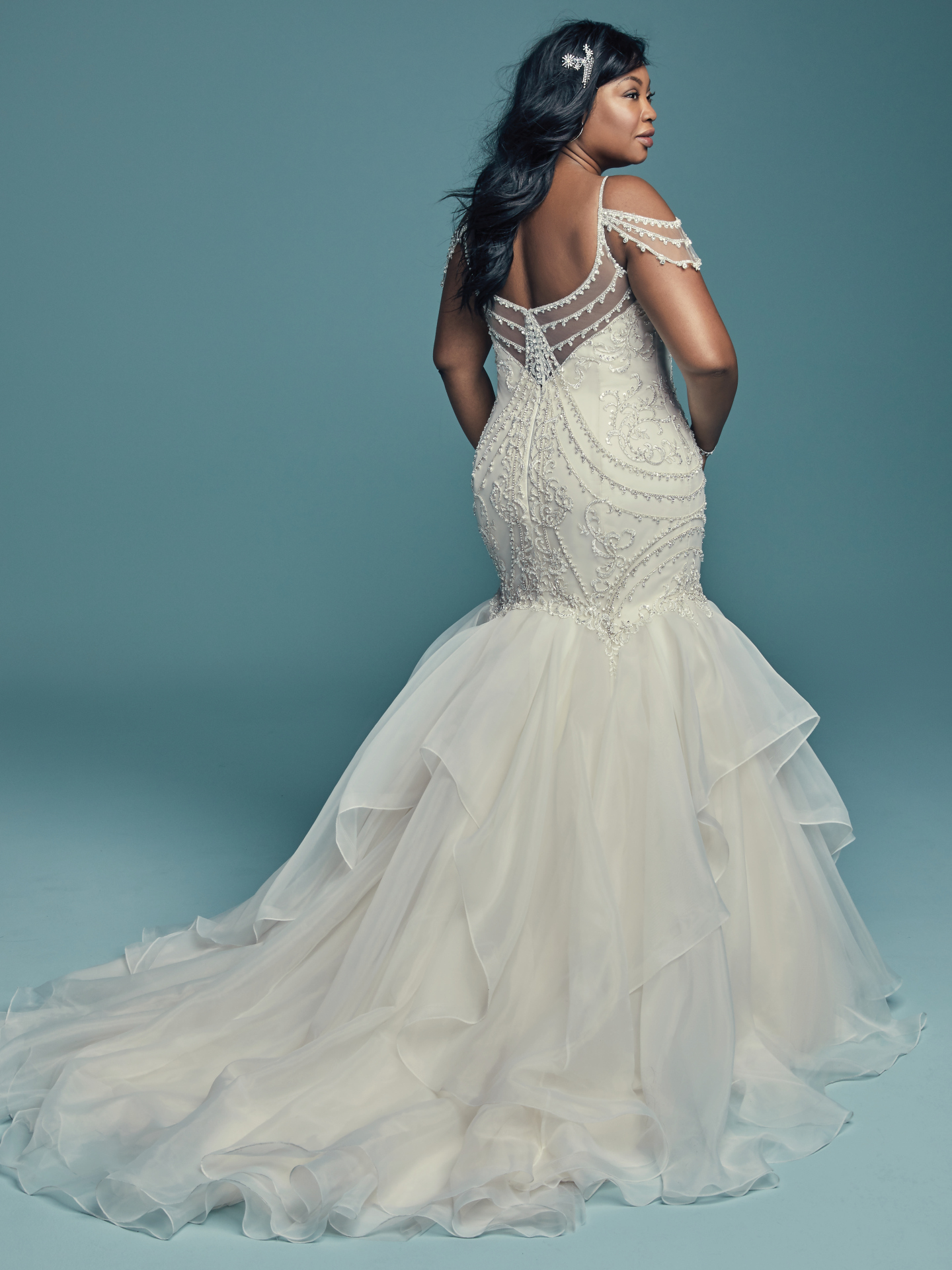 Flattering Wedding Dresses For Curvy Brides Brinkley Lynette By Maggie Sottero