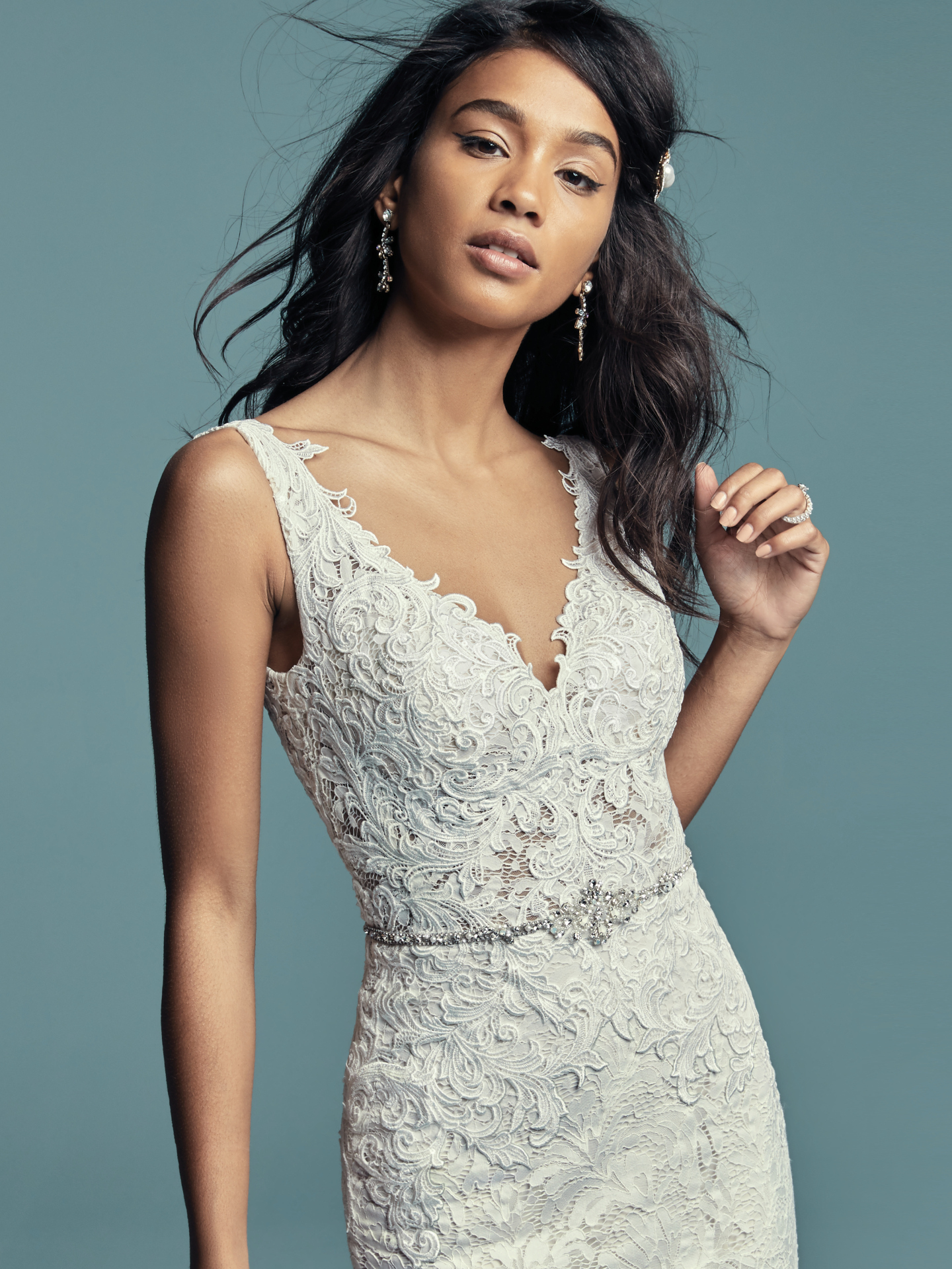 New Boho Wedding Dresses from the Lucienne Collection - Caroline by Maggie Sottero