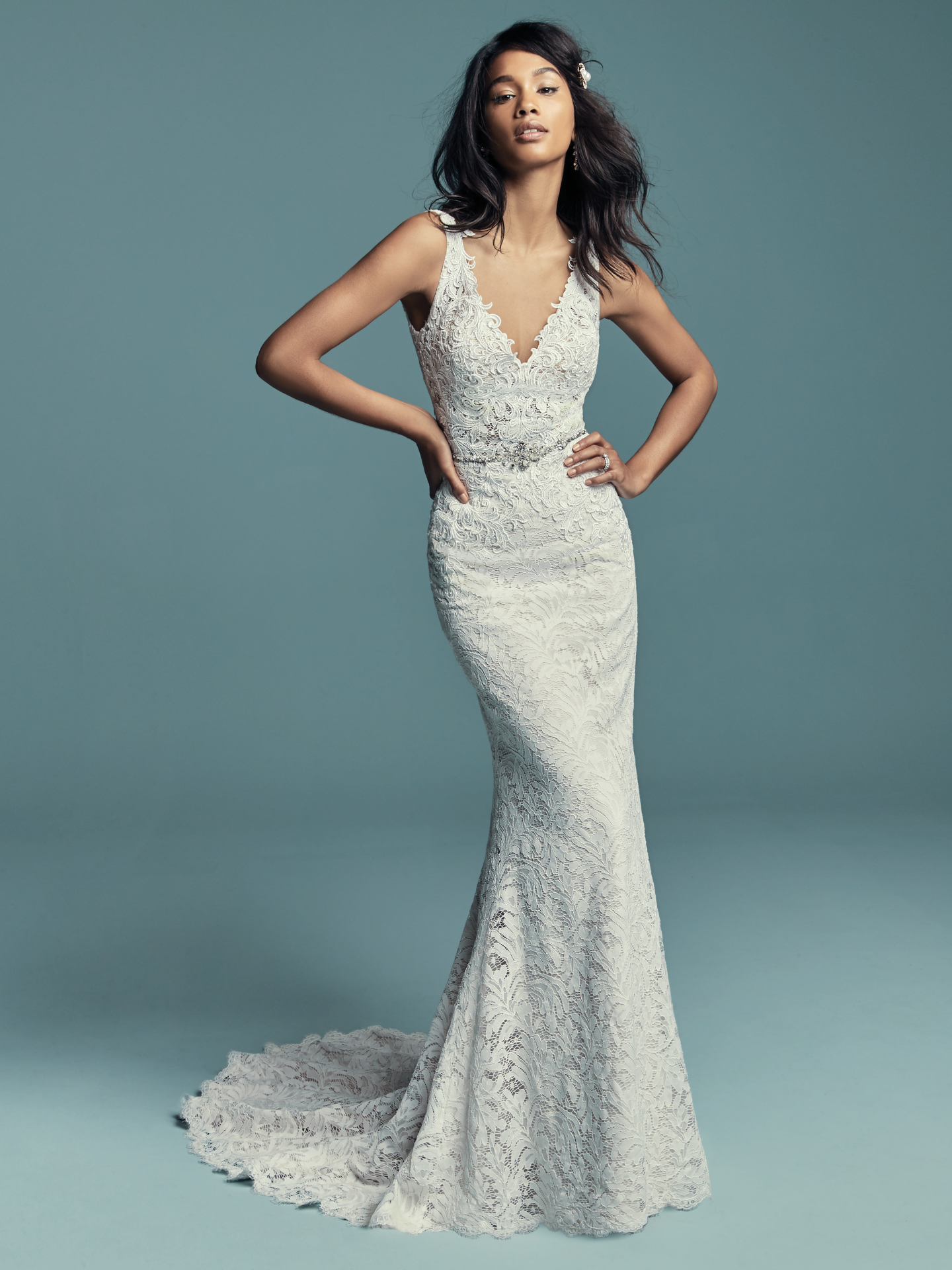 843839a9dd6 Flattering Wedding Dresses for Curvy Brides - Caroline by Maggie Sottero ...