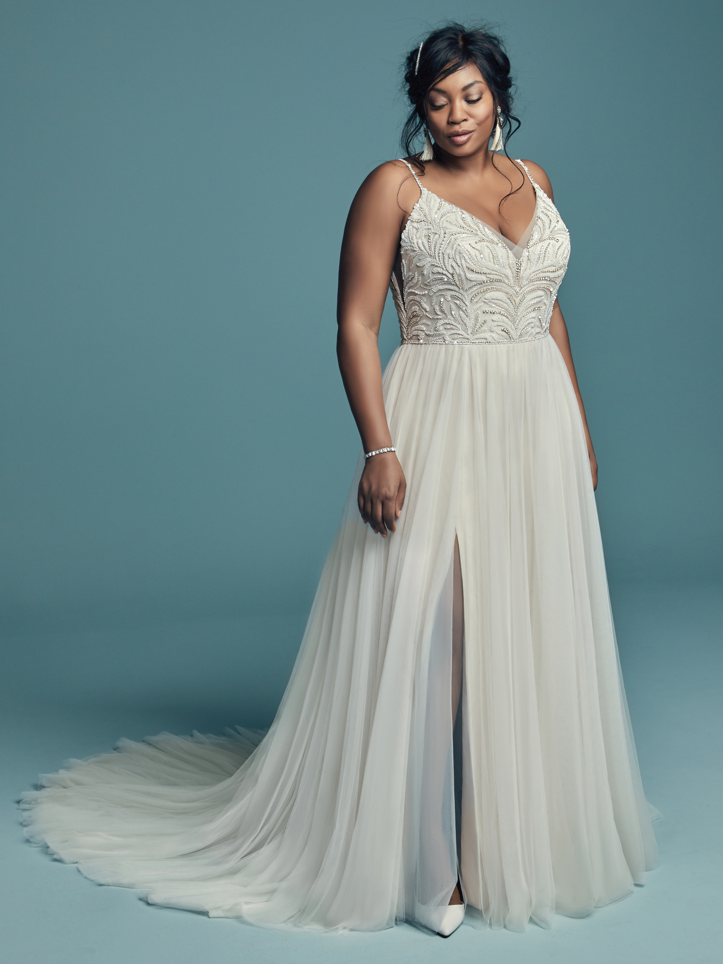Flattering Wedding Dresses for Curvy Brides - Winstyn by Maggie Sottero