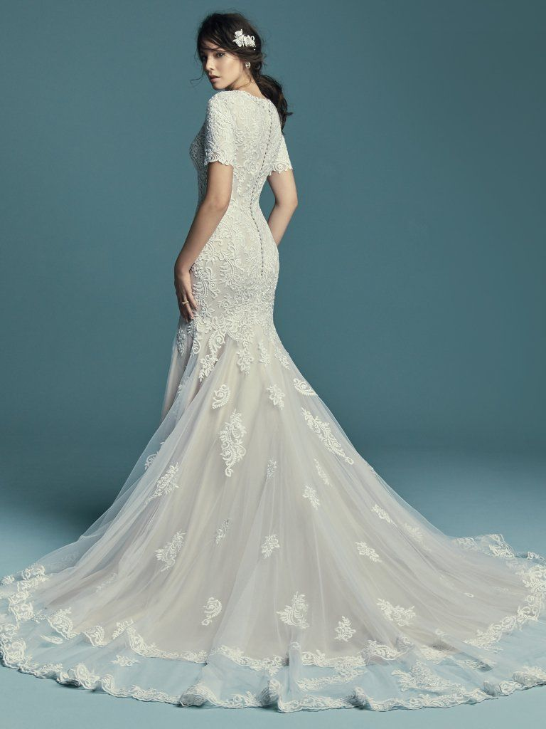 Vintage Lace Wedding Dresses with Teal