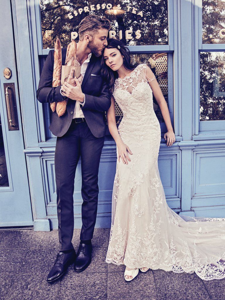 Picture-Perfect Veils for Your Vintage Wedding Dress - Dorinda by Maggie Sottero for vintage style wedding