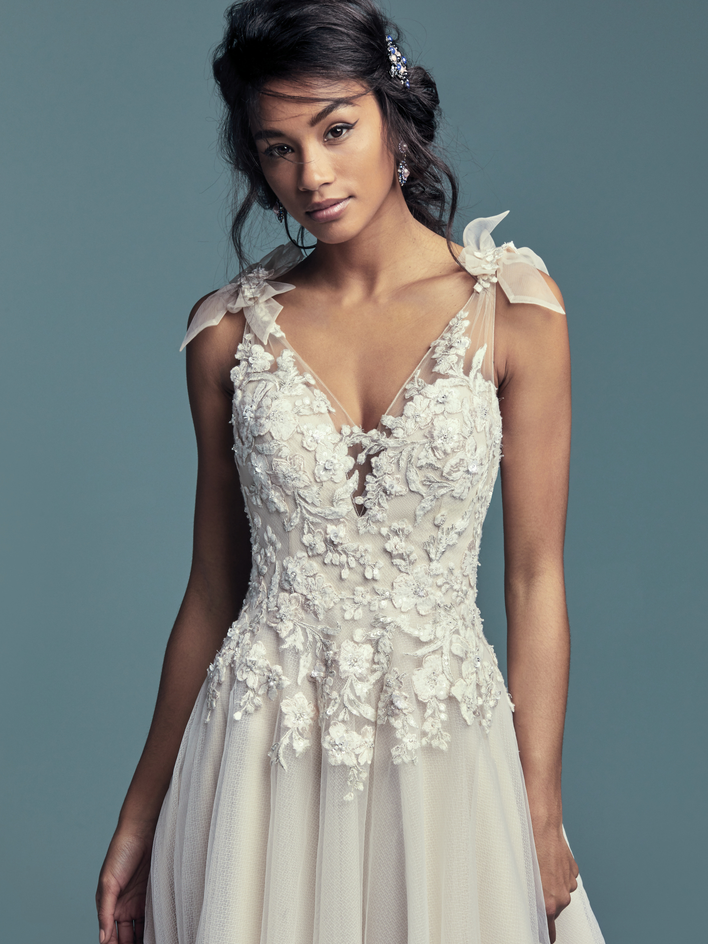 New Boho Wedding Dresses from the Lucienne Collection - Farron by Maggie Sottero