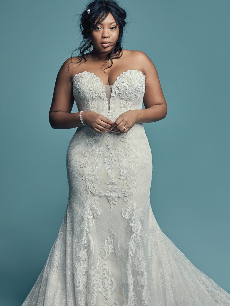 Freida 8ms752 Fit And Flare Wedding Dress By Maggie Sottero