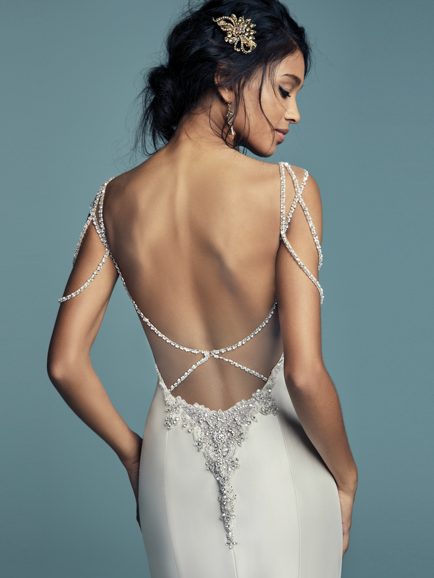 15 Gorgeous Statement-Back Gowns for the Stylish Bride - Gentry wedding dress with statement back by Maggie Sottero