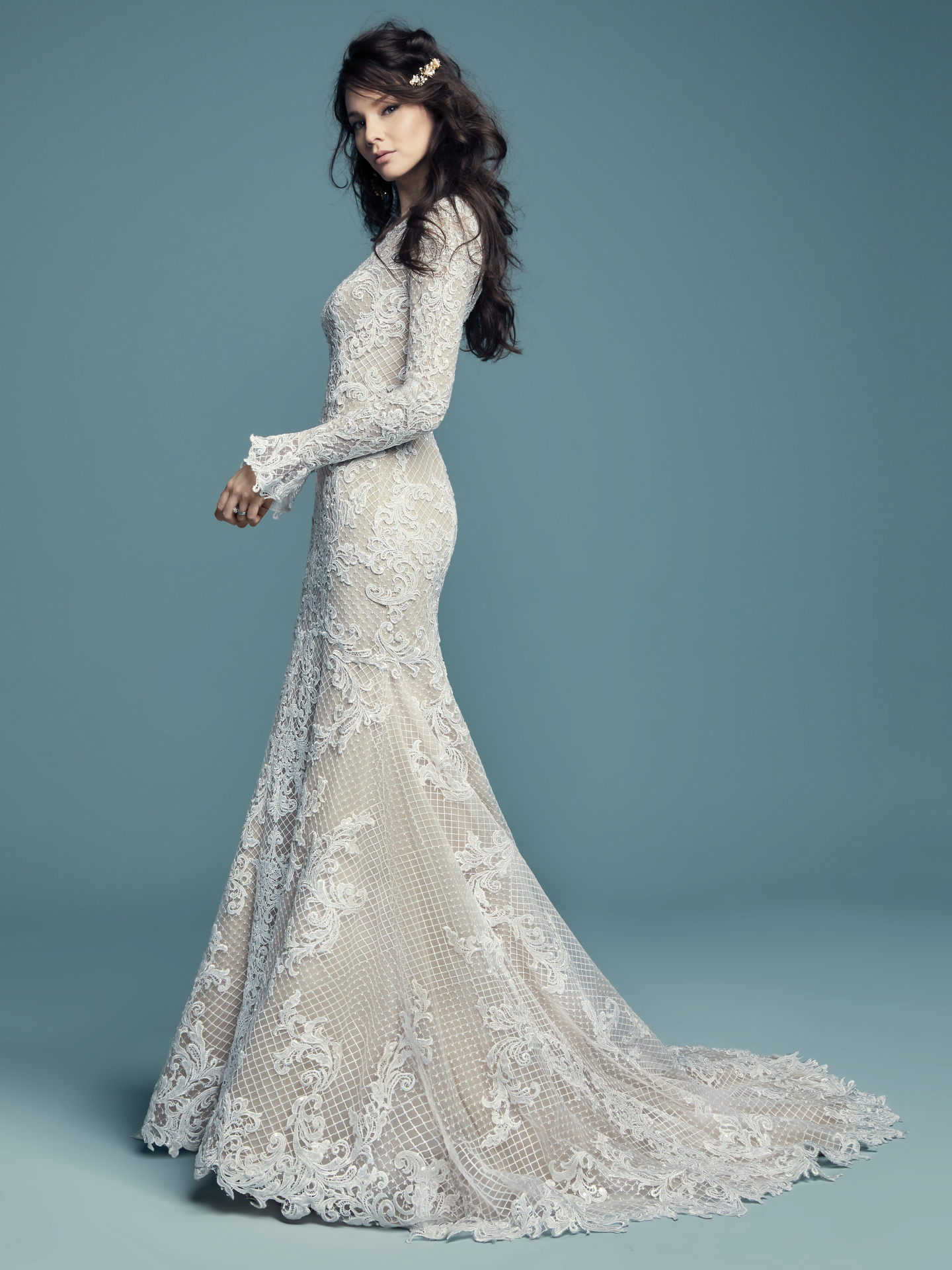 Favorite Sleeved Wedding dresses - Boho sleeved wedding dress Hailey Lynette by Maggie Sottero