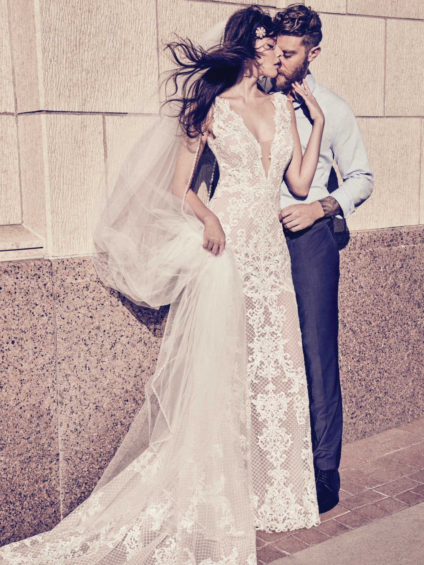 Best Accessories for Your Boho Wedding Dress - Hailey Marie boho wedding dress by Maggie Sottero legs for days
