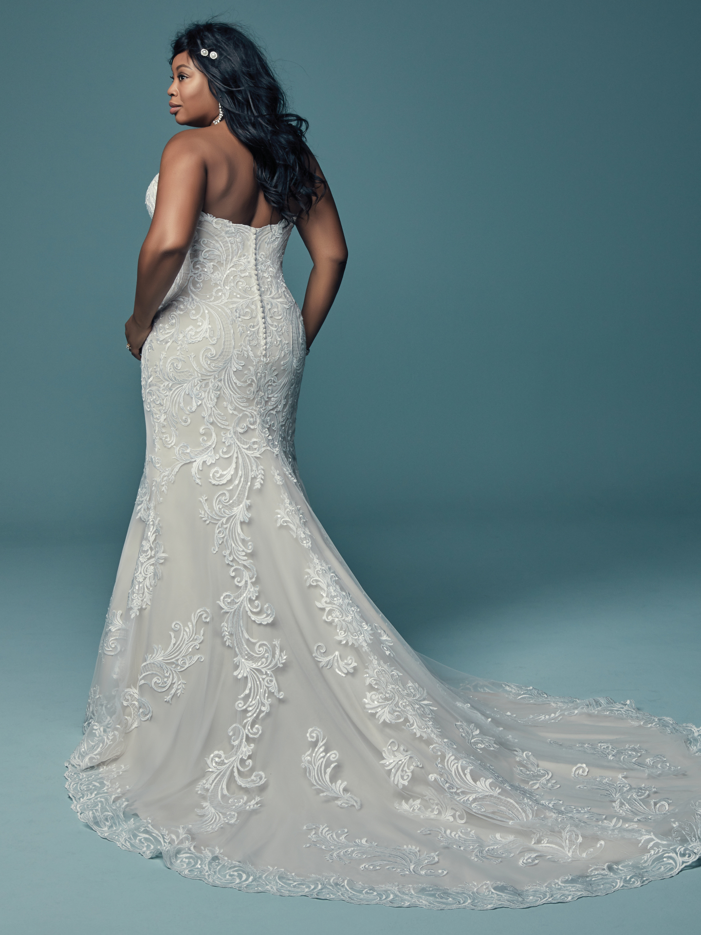 The Ultimate Guide to Wedding Gowns for Curvy Brides from Whitney of CurveGenius - Try the Luanne wedding dress by Maggie Sottero for that classic fit and flare