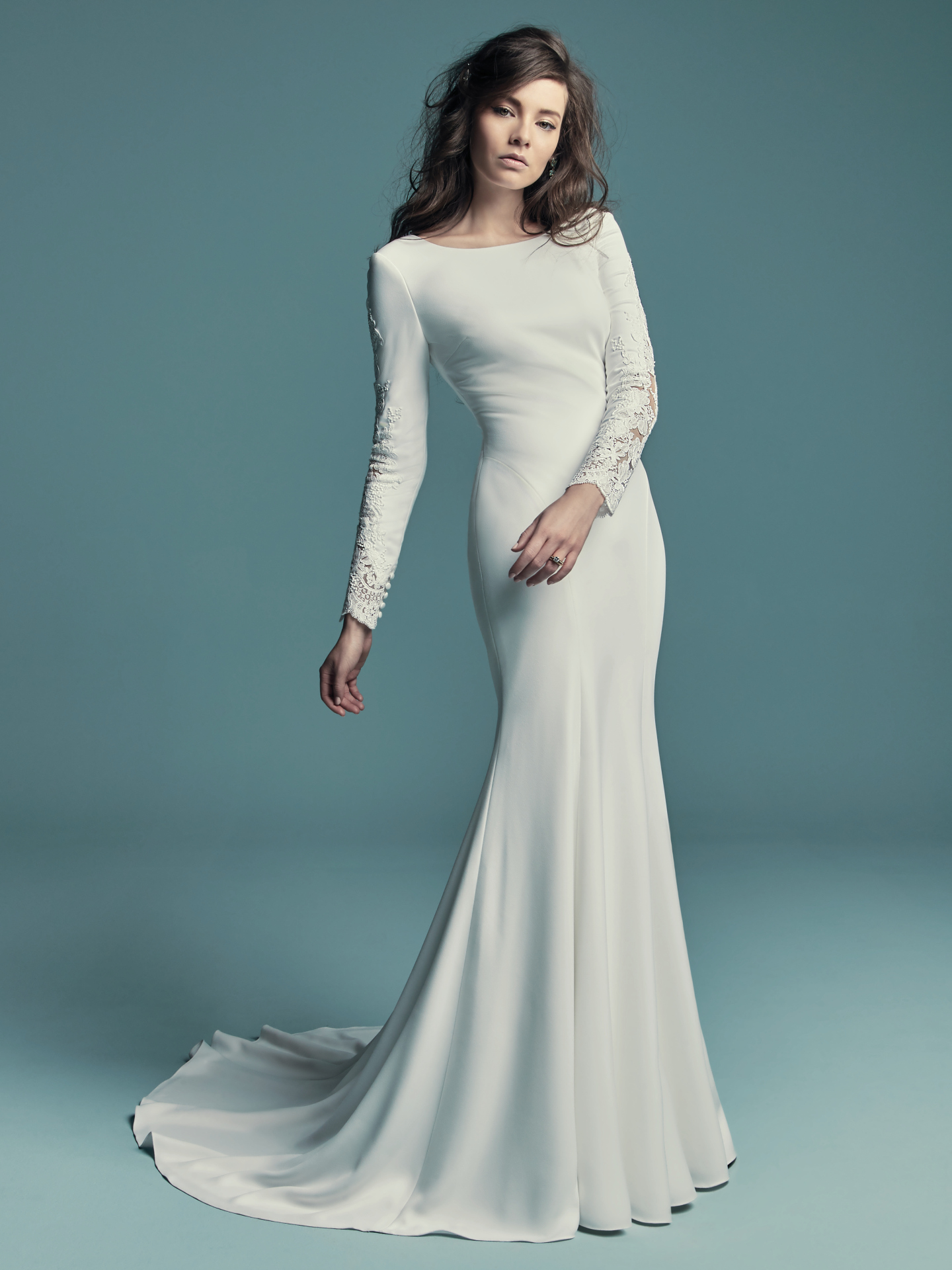 Favorite Sleeved Wedding dresses - Simple wedding dress Olyssia by Maggie Sottero