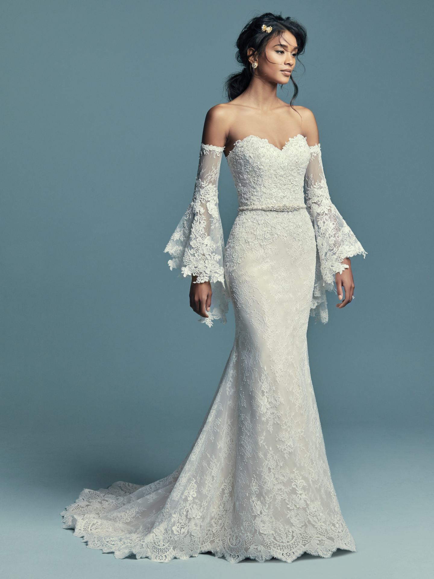 New Boho Wedding Dresses from the Lucienne Collection - Tenille by Maggie Sottero