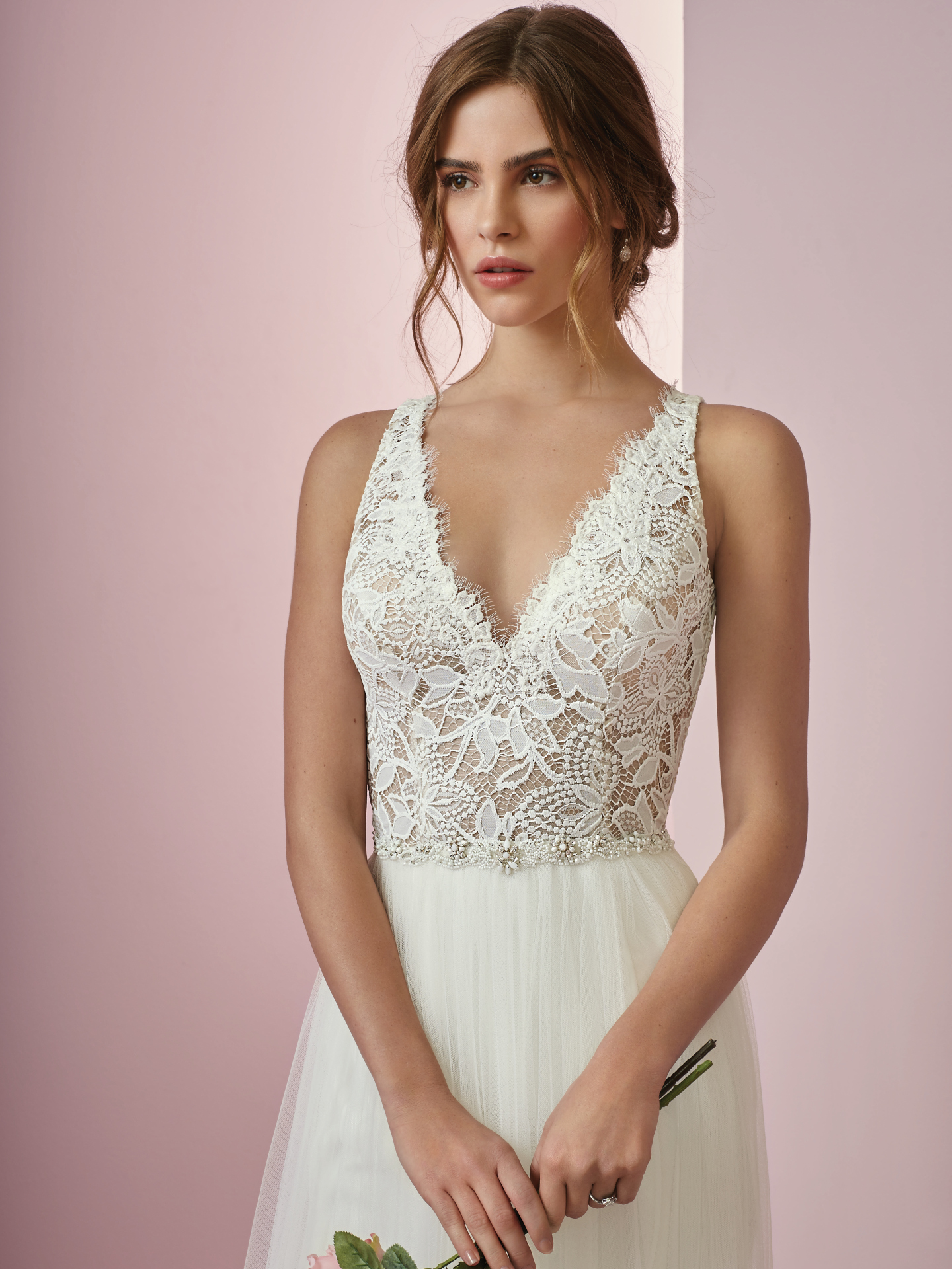 10 Boho Wedding Dresses by Rebecca Ingram - Well hello there, layered lace! Connie by Rebecca Ingram.