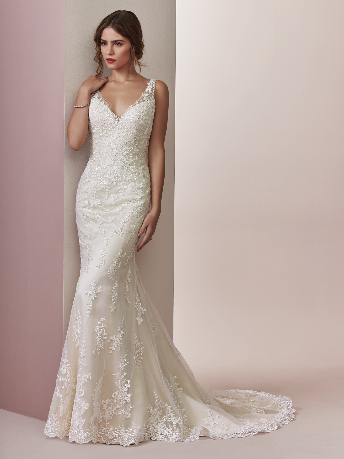10 relaxed wedding dresses from our Camille collection by Rebecca Ingram - Choose Connie for sweet, simple, and chic.