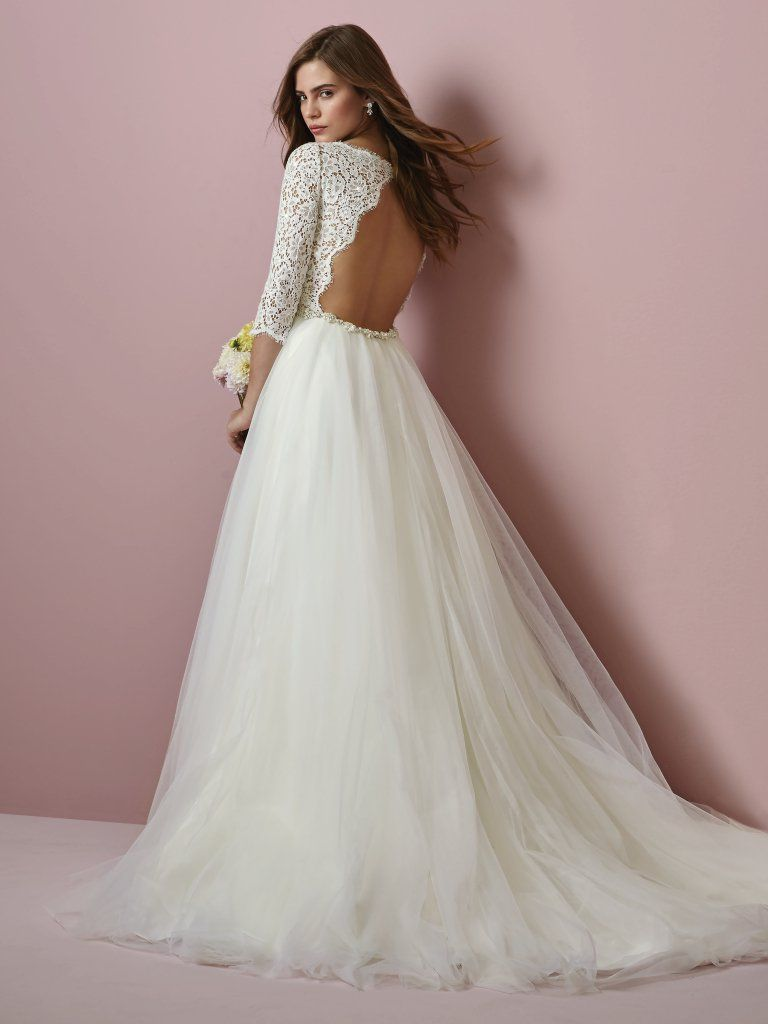 Favorite Sleeved Wedding dresses - Princess wedding dress with sleeves Scarlett by Rebecca Ingram