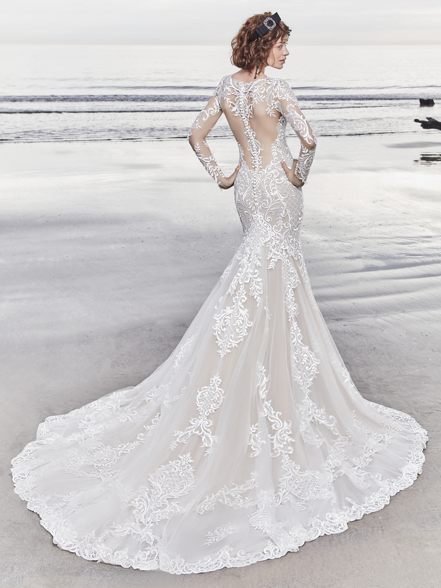 15 Gorgeous Statement-Back Gowns for the Stylish Bride - Dakota wedding dress by Sottero & Midgley