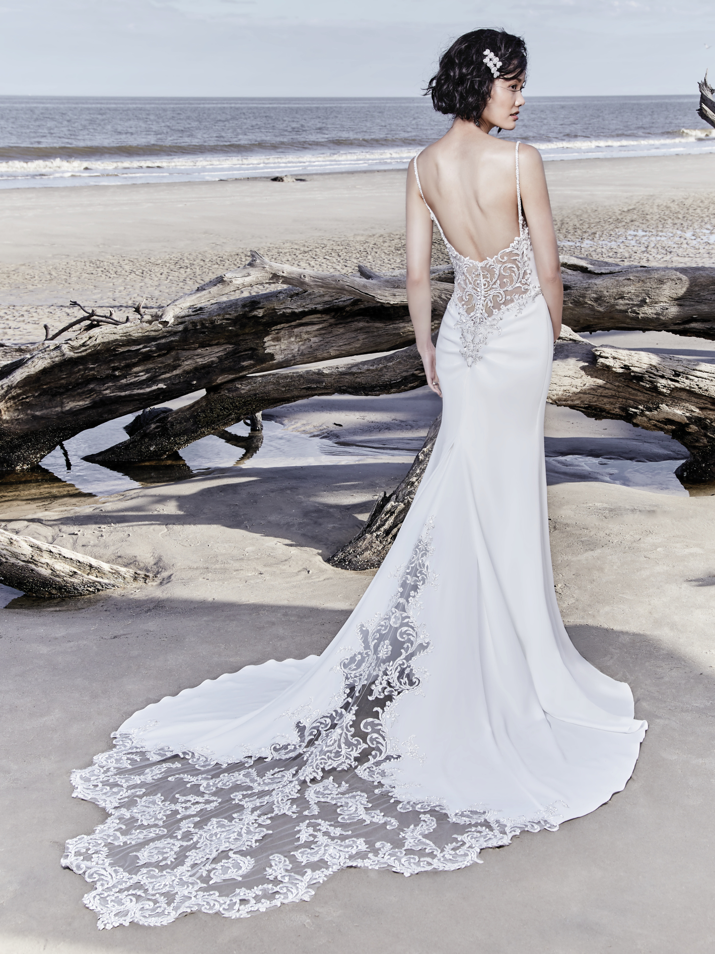 15 Gorgeous Statement-Back Gowns for the Stylish Bride - Hayward wedding dress with statement back by Sottero & Midgley