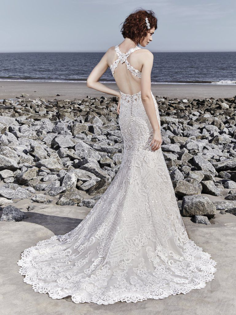 Vintage Wedding Gowns with Geometric Details - Holden wedding dress by Sottero and Midgley