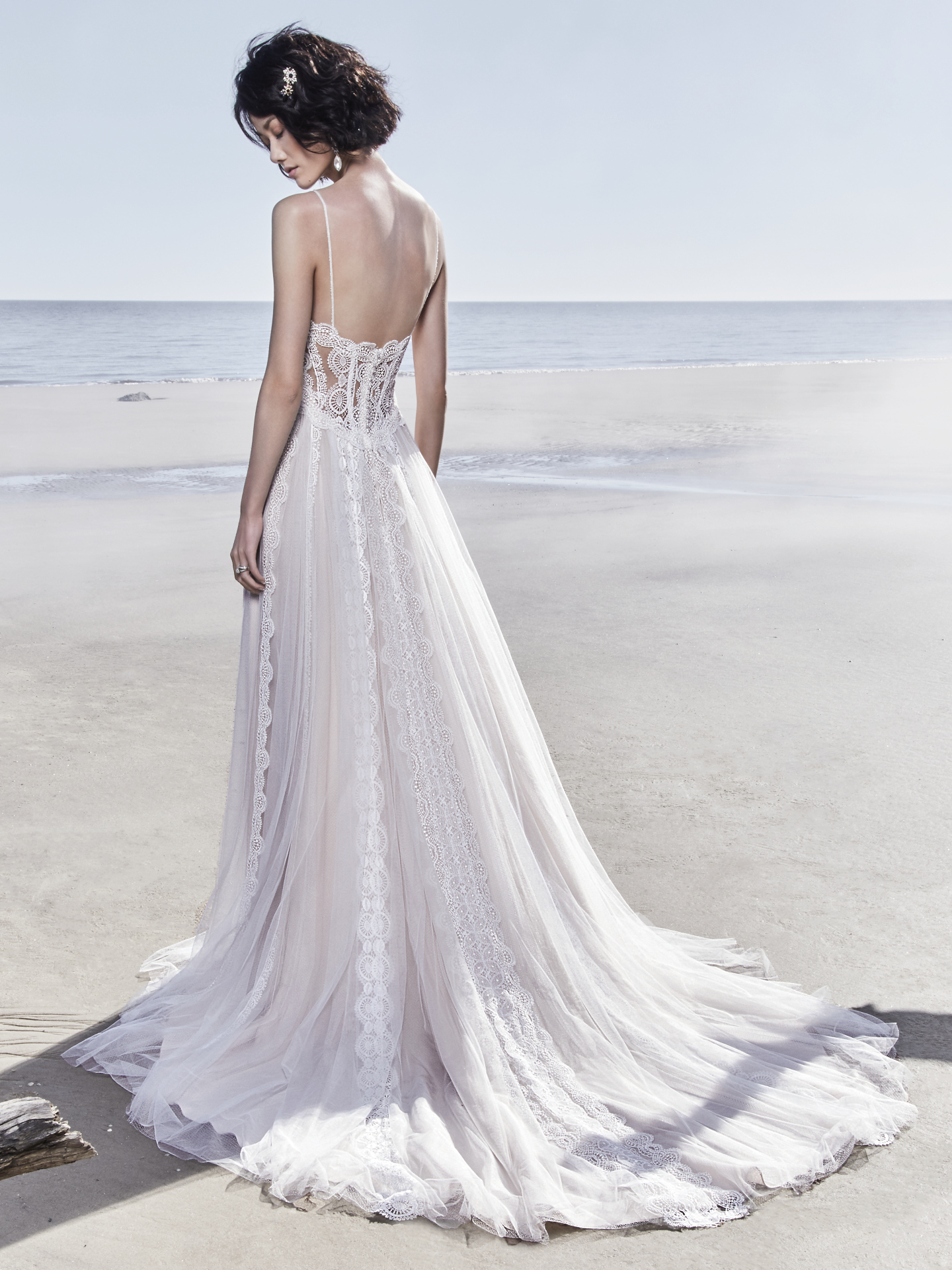 Best Accessories for Your Boho Wedding Dress - Olson boho wedding dress by Sottero & Mdigley paired with edgy heels
