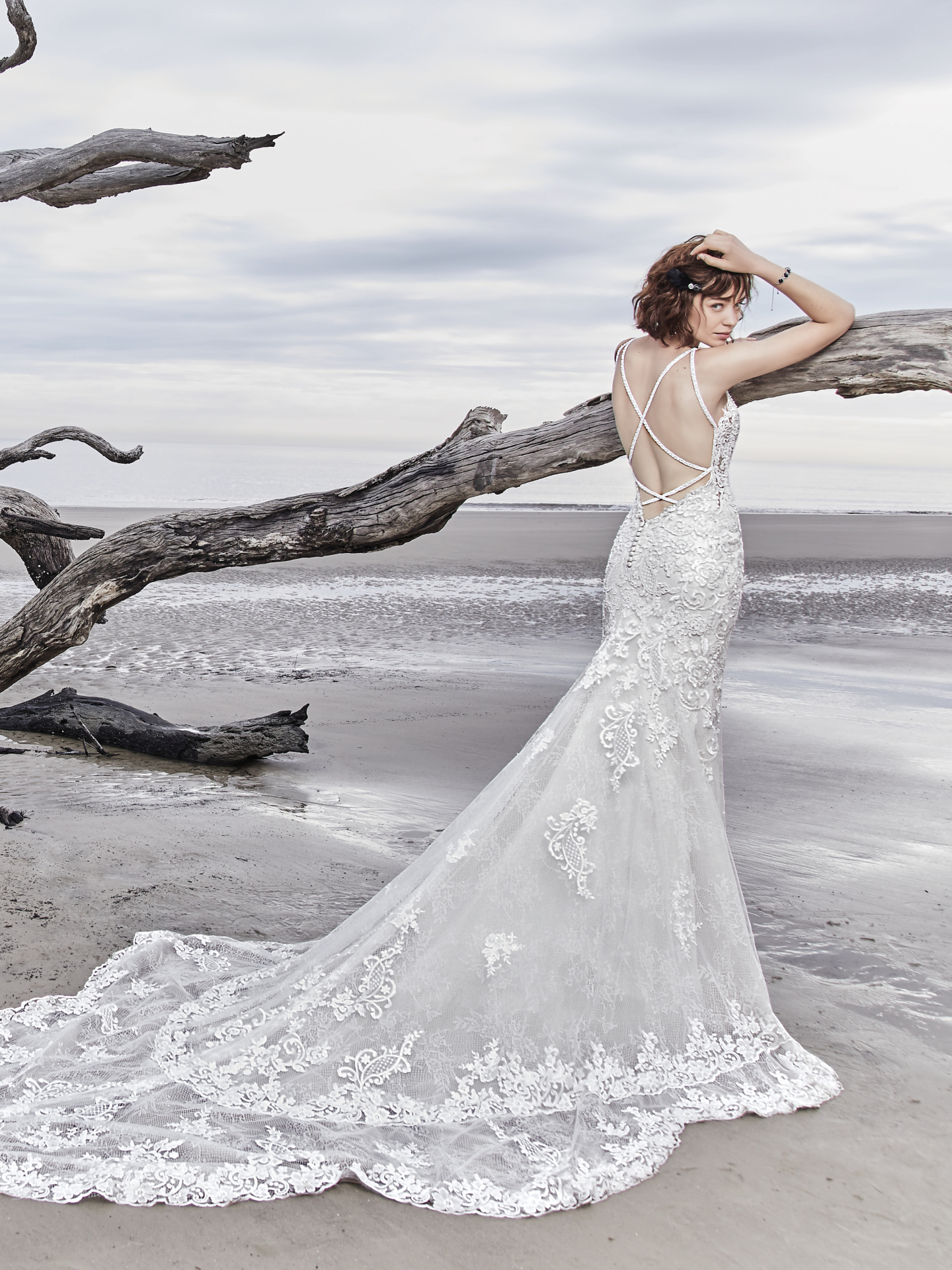 15 Gorgeous Statement-Back Gowns for the Stylish Bride - Sullivan wedding dress with statement back by Sottero & Midgley