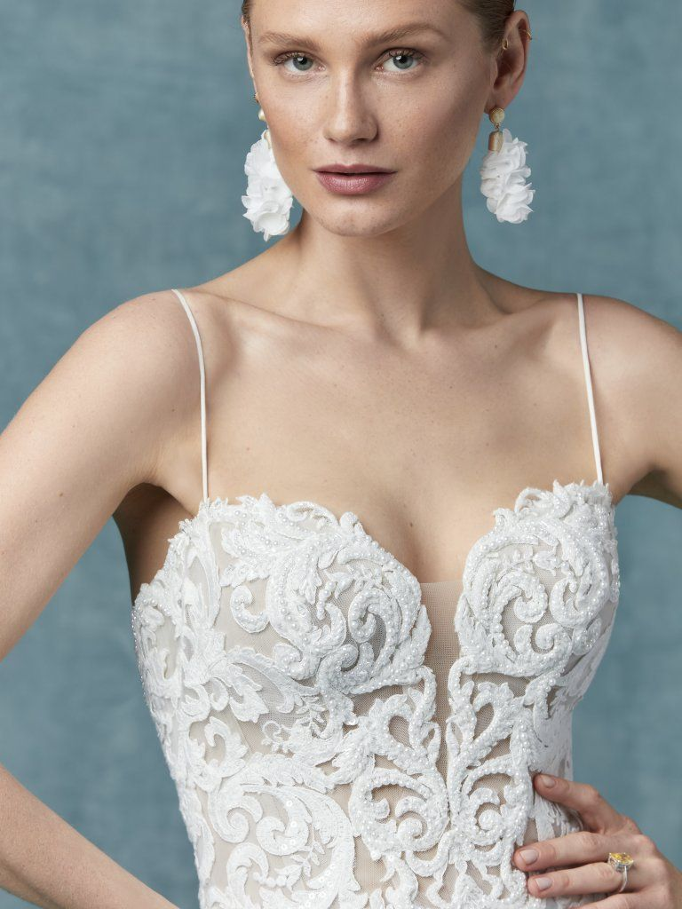 Romantic Beach Wedding Dresses by Maggie Sottero Lace