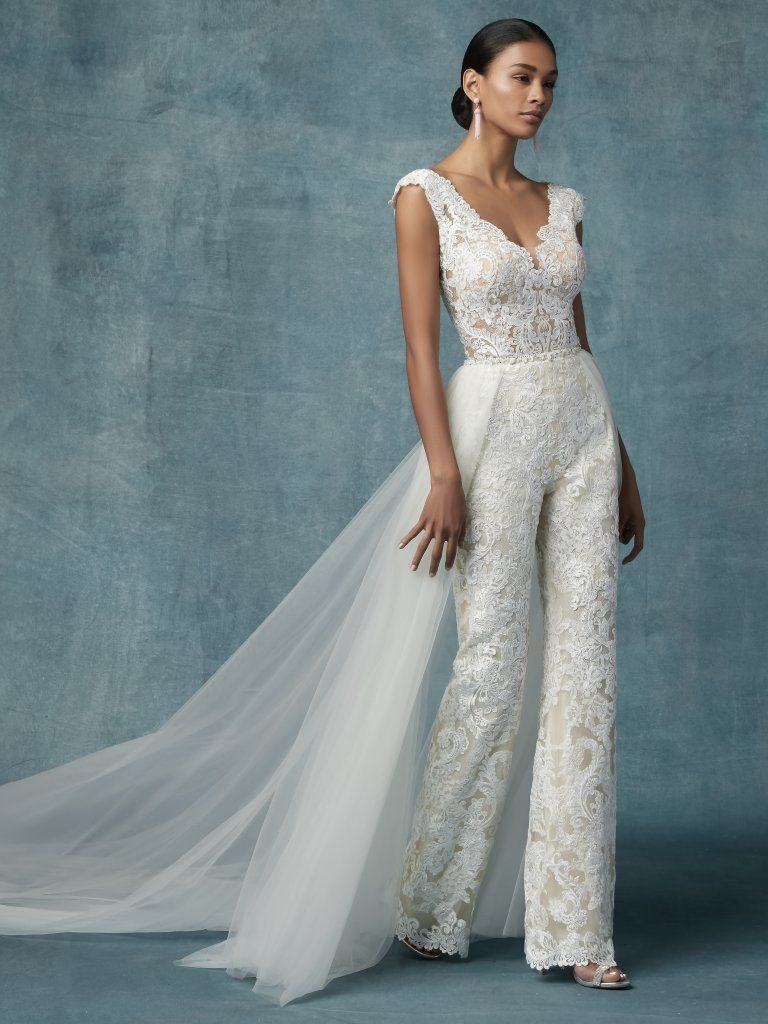 b5bf4438a3a Milan (9MC106) Lace Boho Wedding Dress by Maggie Sottero