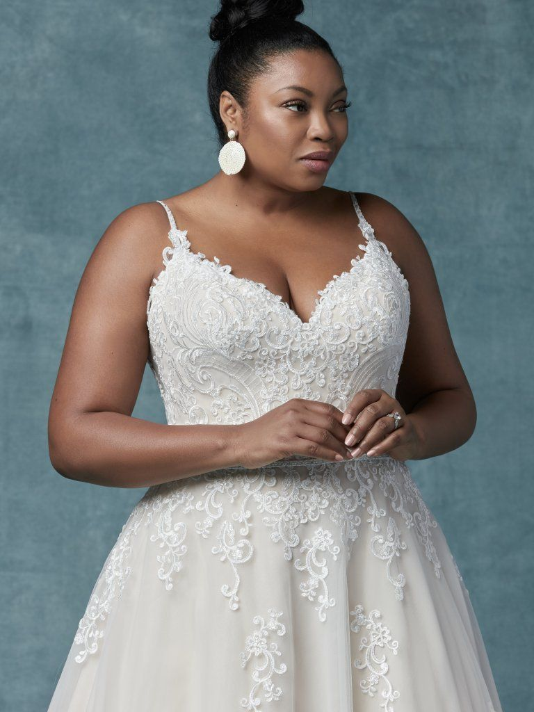 61a459fea7a Wallis (Curve) (CRV-9MS030) Plus Size Wedding Dress by Maggie Sottero