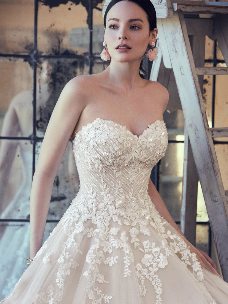 84d89f2555236 Zinaida (9MC024) Floral Lace Wedding Dressy by Maggie Sottero