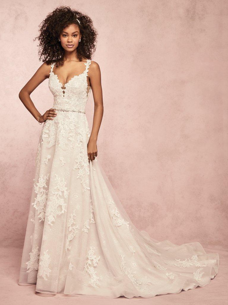 81972c04df Courtney (9RC052) Blush Boho Wedding Dress by Rebecca Ingram