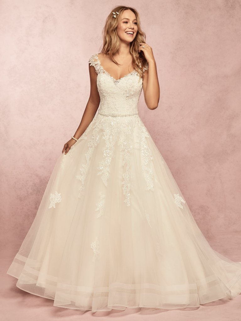 e71eac0bac9 Wedding Dress Color Guide  Shades of White for Every Bride. Champagne  wedding dresses by ...