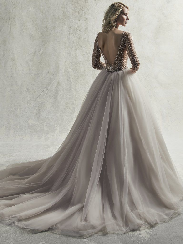 Vintage Wedding Gowns with Geometric Details - Fitzgerald ballgown wedding dress by Sottero and Midgley