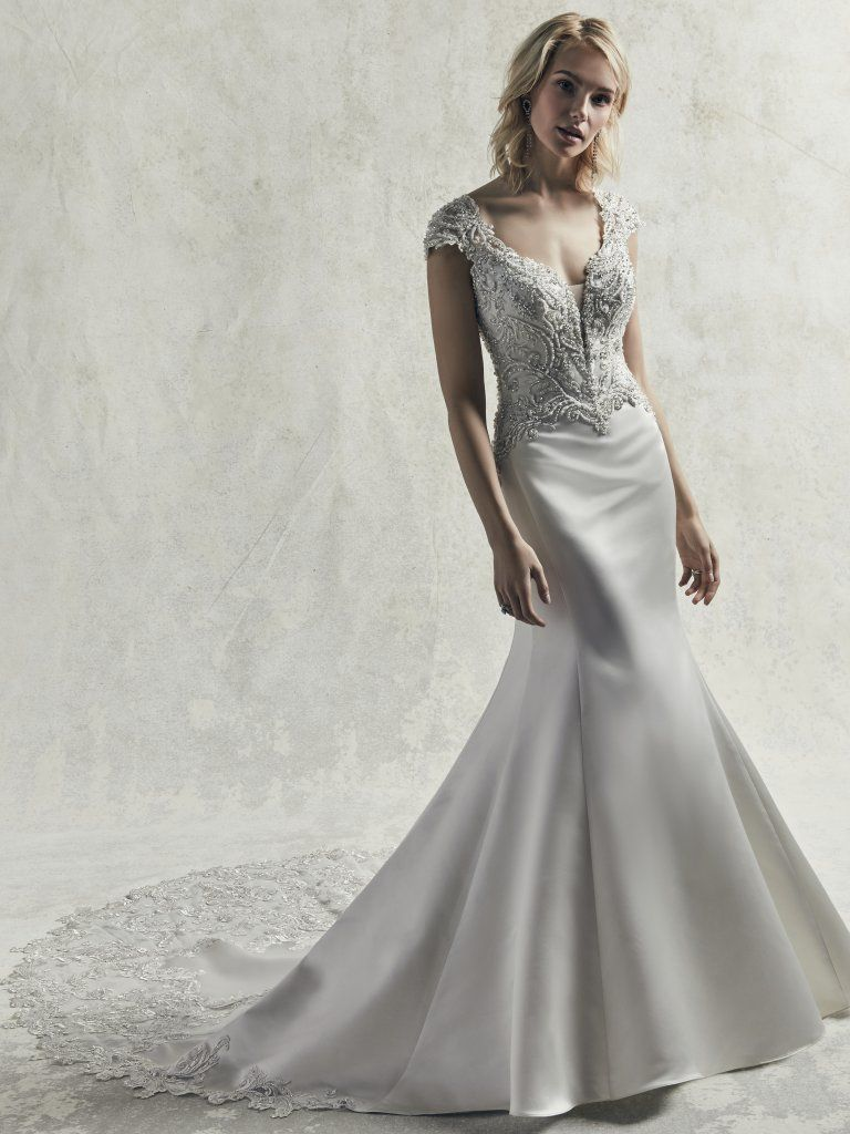 2019 Satin Wedding Dresses - Gibson fit-and-flare satin wedding dress by Sottero and Midgley