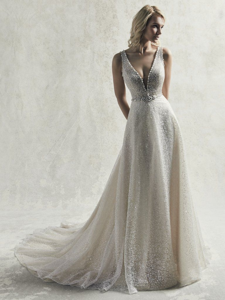 Wedding Dress Color Guide: Shades of White for Every Bride. Light gold wedding dresses by Sottero and Midgley - Jarret