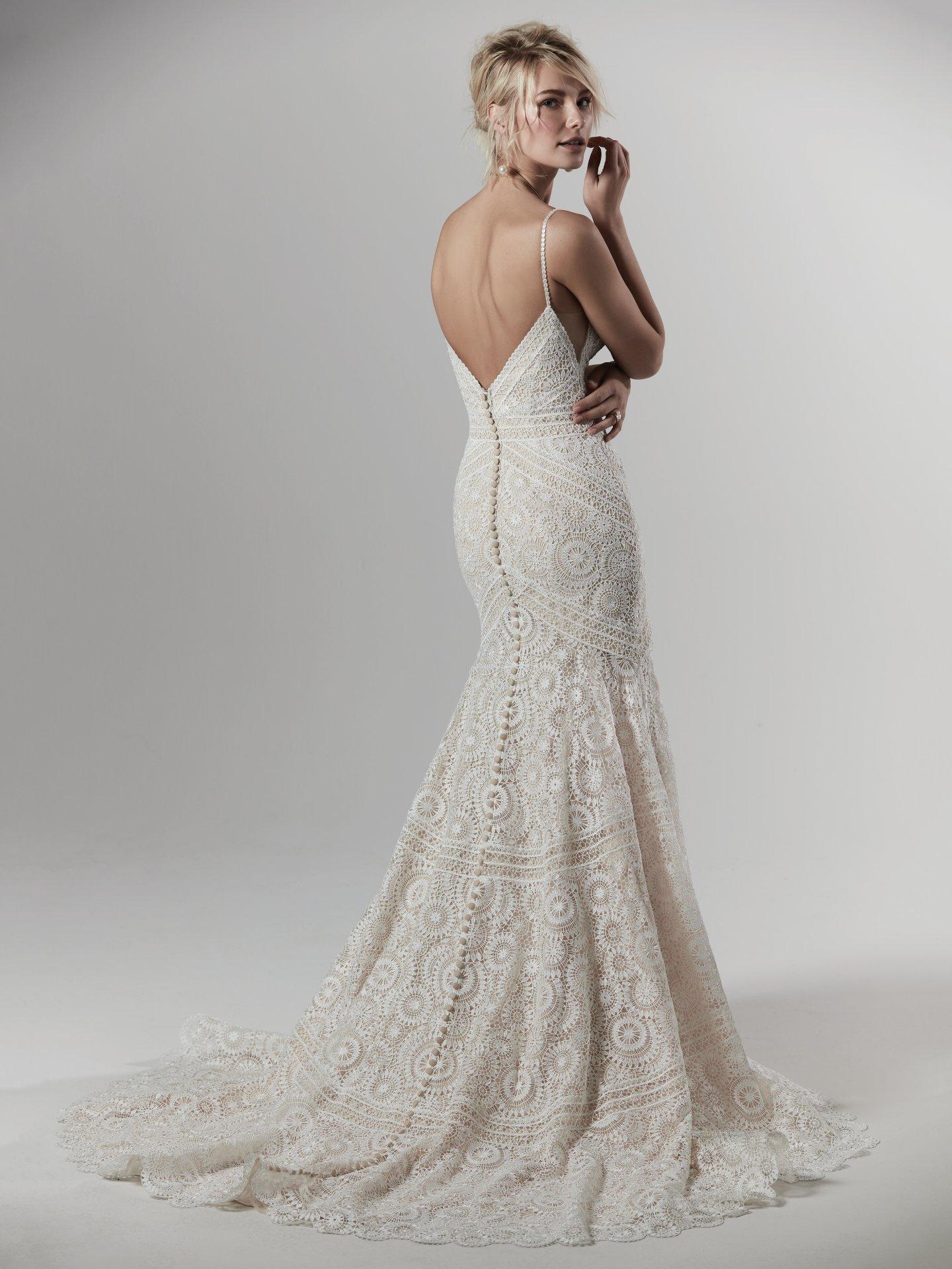 Maggie Sottero Fielding lace boho wedding dress