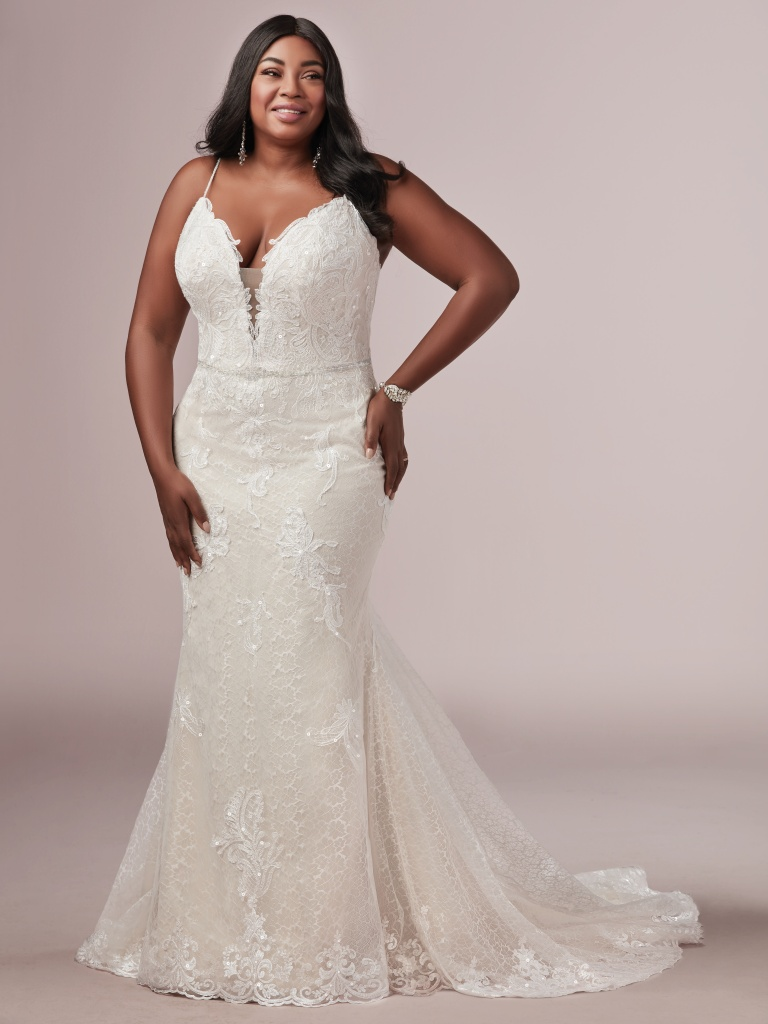 Laurette Lynette (Curve) (CRV-9RS892AC) Size Lace Wedding Dress by Rebecca Ingram