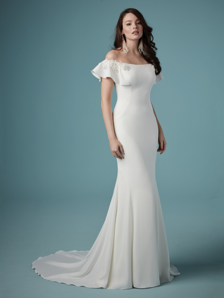 11b293ee68b Ainsley (9MW890) Simple Off the Shoulder Wedding Dress by Maggie Sottero