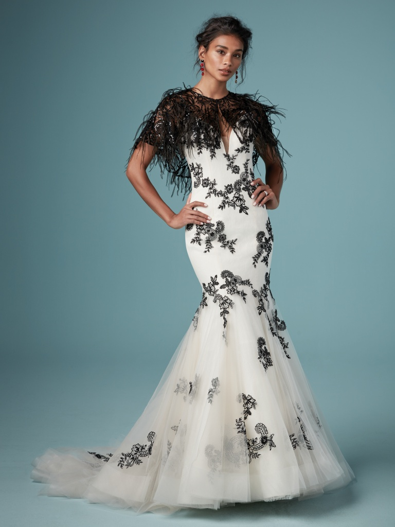 937a591beed Ally (9MW843) Black and Antique Ivory Wedding Dress by Maggie Sottero