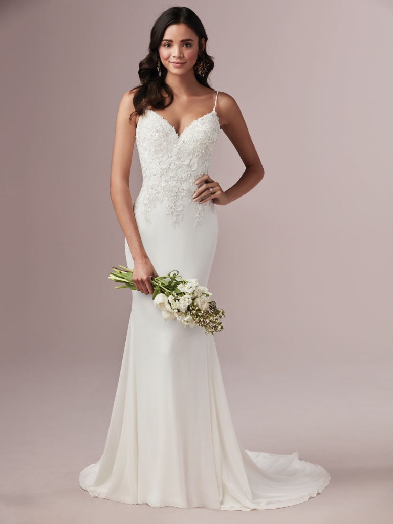 Candice (9RN871) Backless Chiffon Wedding Dress by Rebecca Ingram