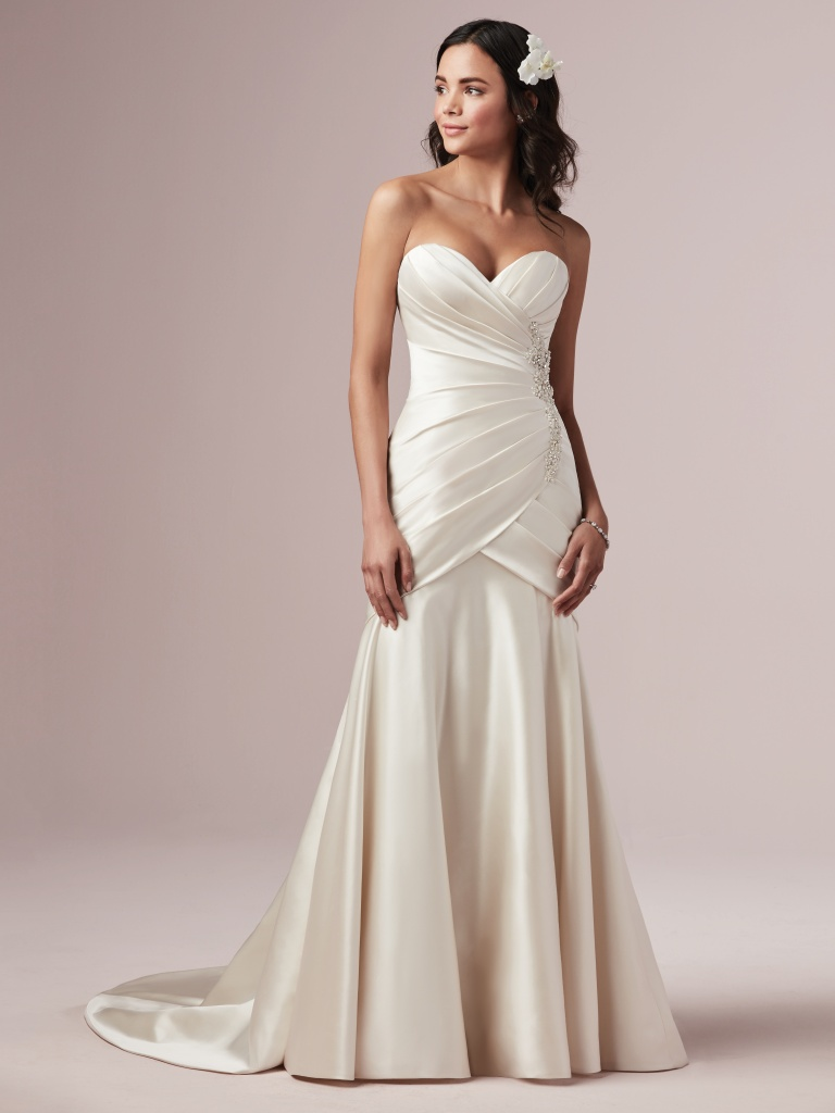 Maisey (Curve) (CRV-9RN849) ermaid Wedding Dress by Rebecca Ingram