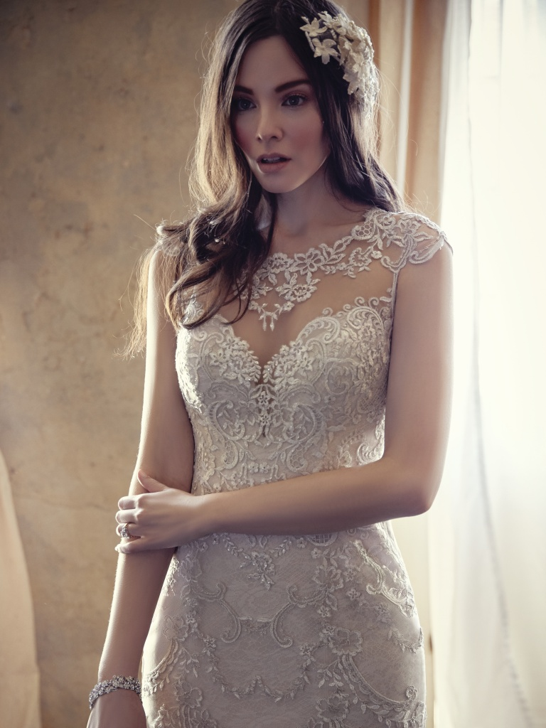 Eileen 9mw852 Vintage Illusion Lace Wedding Dress By